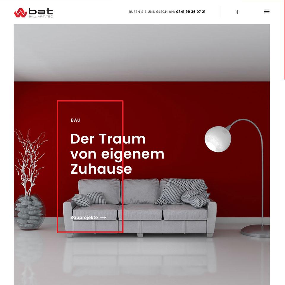Wordpress Website und Online Shop für Bau Art Tec