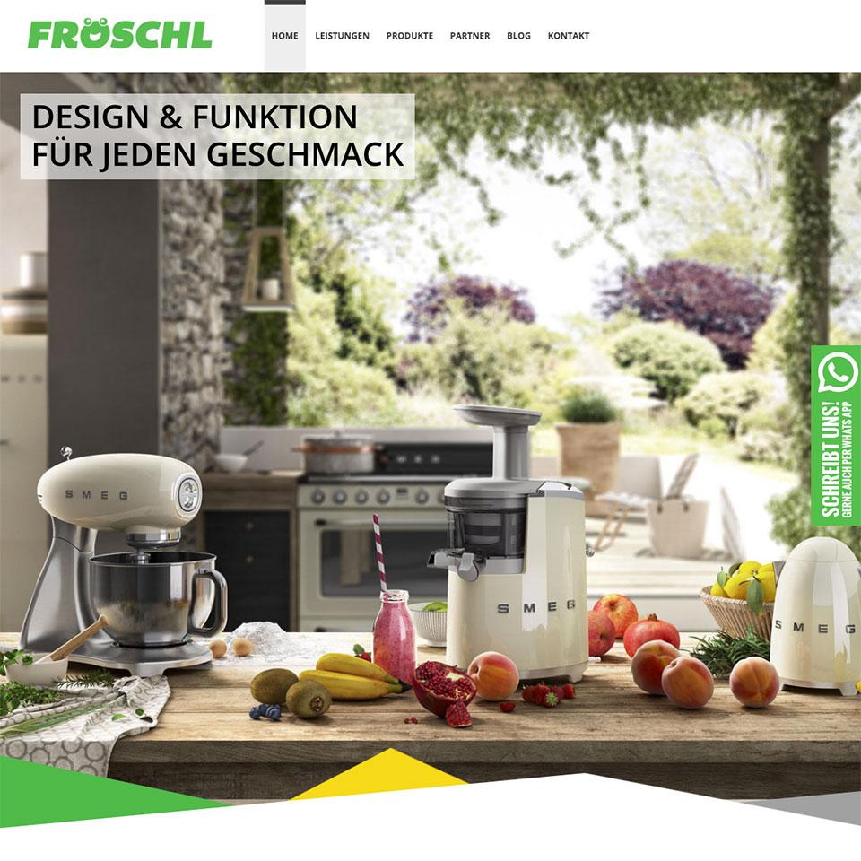 Wordpress Website für Elektro Fröschl