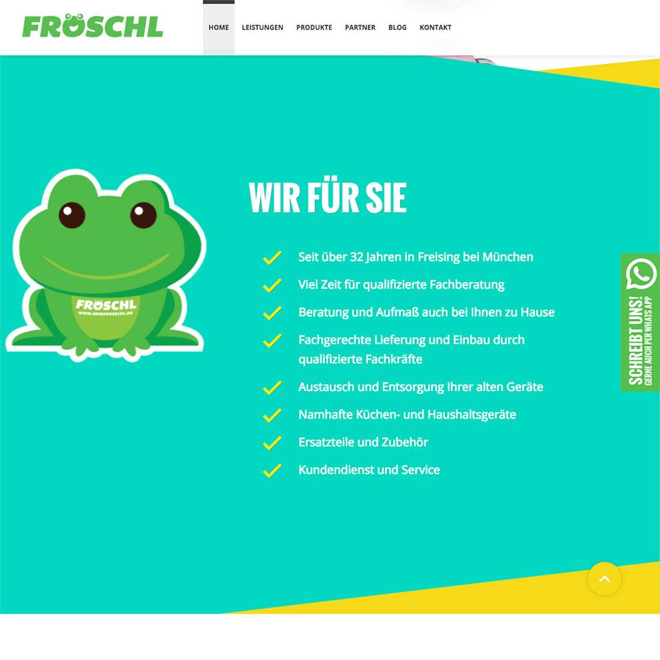 Webdesign für Elektro Fröschl