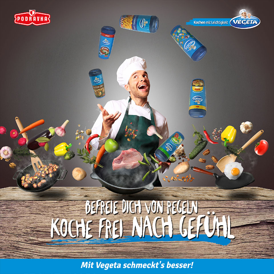 Vegeta Anzeige - Koche frei nach Gefühl