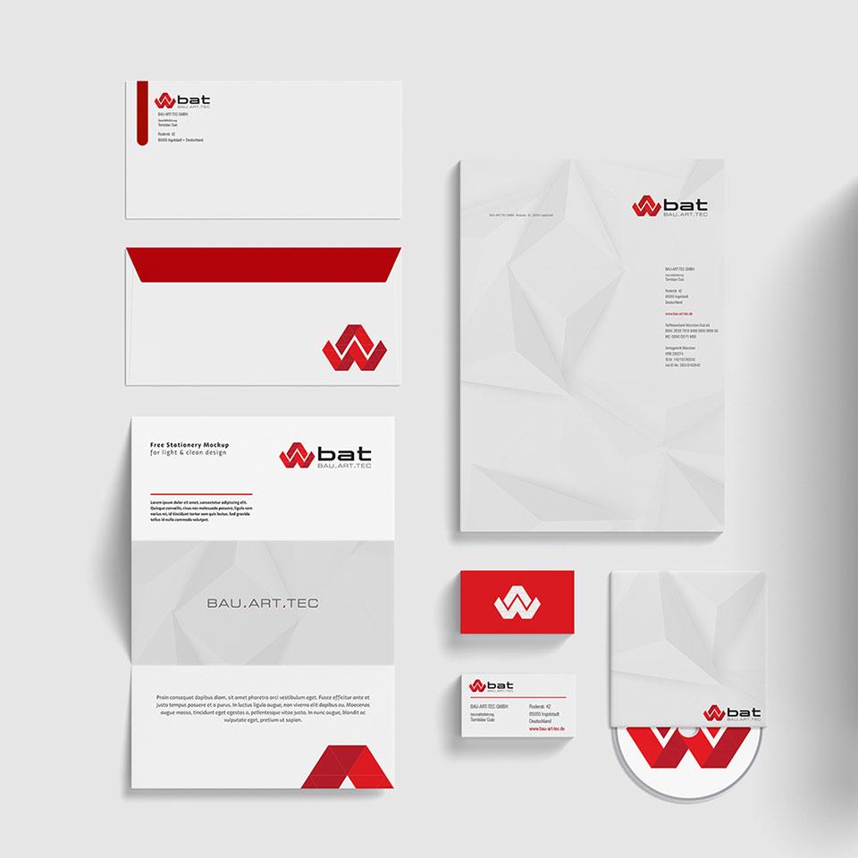 Bau Art Tec Corporate Design