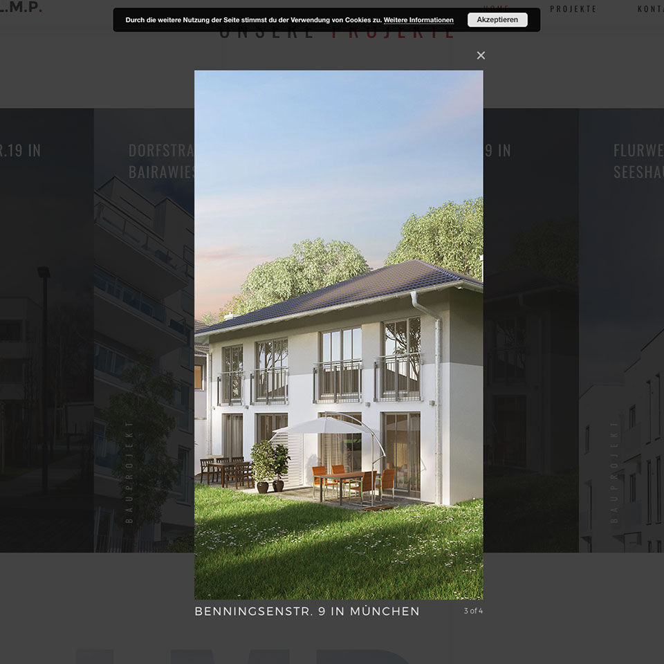 Wordpress Website for LMP Verputz München