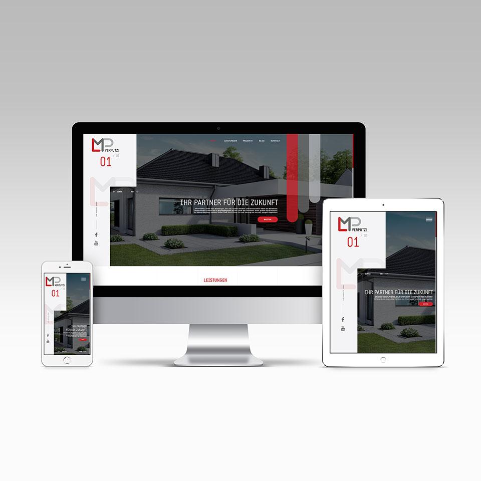 Webdesign for LMP Verputz München