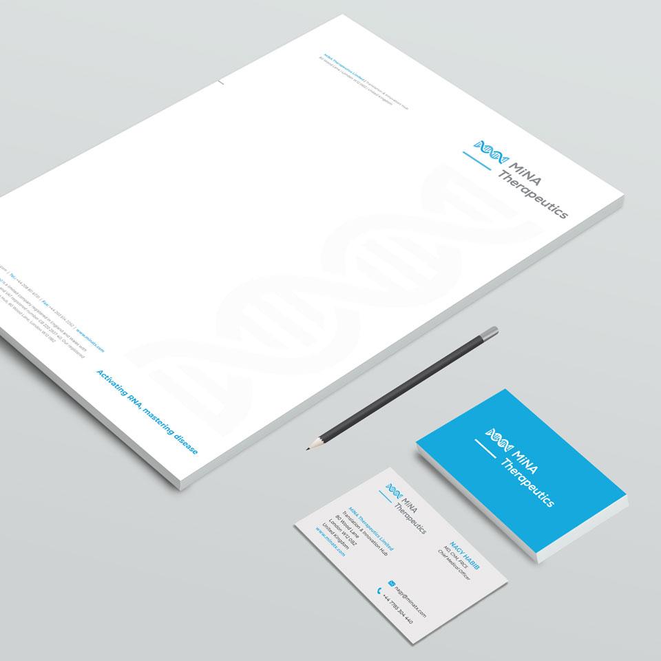 Corporate Design and Brand Development for MiNA Therapeutics